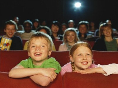 kids at movies