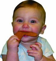 Baby chewing wing teether