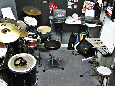Hands on learning with two drum sets