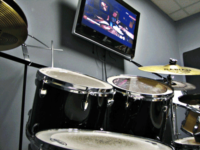 With flat screen TV and HD camara for video lessons