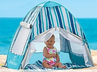 baby in tent