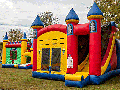 Excalibur Bounce House Slide Combo