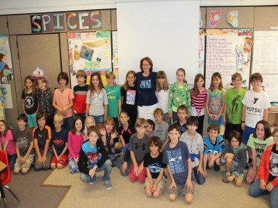 Amy Wright with Friends School students.jpg
