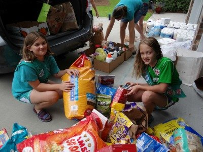 girl scouts pet drive