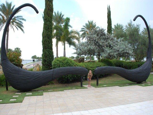 Moustache sculpture