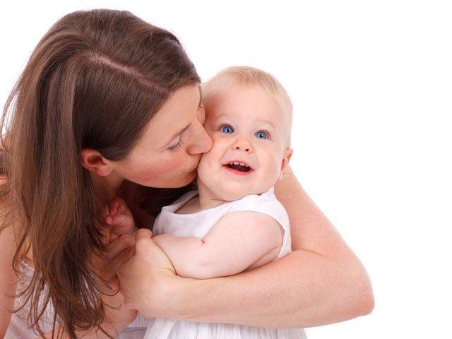 Mom Kiss Baby
