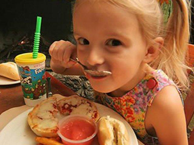 girl eating too